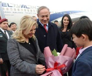 PM Benjamin and Sara Netanyahu arrive in Beijing on Sunday.