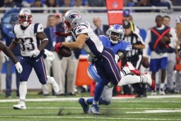 Patriots wide receiver Julian Edelman in an NFL preseason football game. (AP Photo/Rick Osentoski)