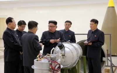 Kim Jong Un inspects an H-bomb