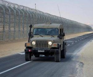 Border fence Egypt