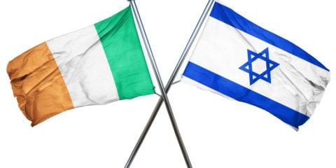 Ireland Israel flags