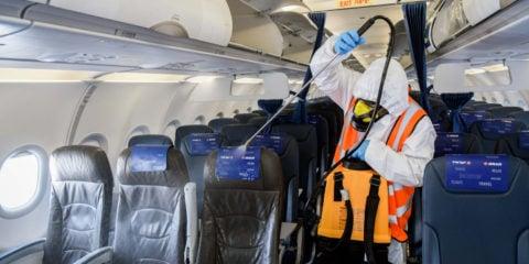 airplane CORONAVIRUS decontamination